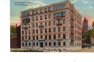 Pittsburgh PA Presbyterian Hospital c:1907-15 Postcard UNUSED Excellent