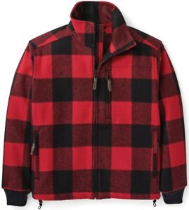 Filson Mackinaw Wool Field Jacket Red & Black Check, Men's M NWT MSRP $395