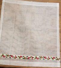 """(K-936) Vintage Kitchen RV Camper Curtains 33 x 36"""" White with Cherries Panels"""