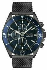 Brand New HUGO BOSS OCEAN EDITION Chrono Blue Dial Mesh Band Men's Watch 1513702