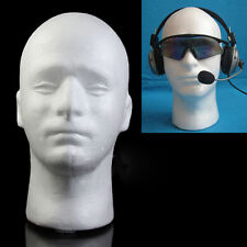 ND_ MALE MANNEQUIN STYROFOAM FOAM MANIKIN HEAD MODEL WIG HAT DISPLAY STAND COOL