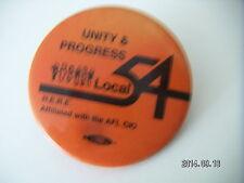 AFL/CIO LOCAL 54 UNITY AND PROGRESS TRADE UNION BADGE