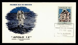 DR WHO 1971 PANAMA FDC SPACE APOLLO 12 CACHET  g01595