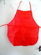 CHILDS-PLASTIC-APRON-IN-RED -SIZE-5-6-7