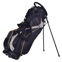 """9"""" Golf Sport Outdoor Stand Bag 7 Pockets 7-way Divider Carry Storage Dual Strap"""
