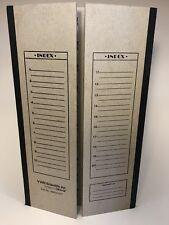 Set of  2 -VWR Scientific 20-Spot Microscope Slide Flat Storage Folder 48454-007