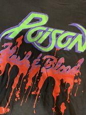 Vintage Poison Flesh And Blood Brockum Tshirt Rare Collectors Size L Rare