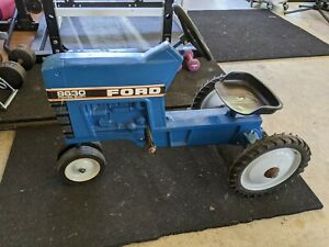 Vintage Blue Ford Pedal F-68 Tractor Car Metal ETRL Original Paint