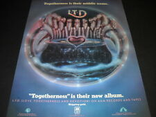 L.T.D. LTD Togehterness Is Their Middle Name original 1978 Soul Promo Poster Ad