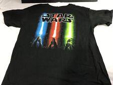 Star Wars Licensed Tee Shirt. Blue - Red - Green Sabre Light, Vintage, Kids XL