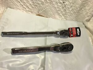 "2 Craftsman NEW Flex Head Ratchets CMMT99426 3/8 X-LONG CMMT99429 1/2"" chrome"
