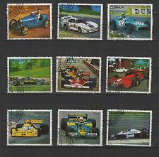 voiture de course PARAGUAY  9 timbres oblitérés / T1703