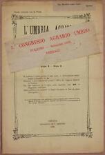 L'UMBRIA AGRICOLA 30 SETTEMBRE 1892 FOLIGNO ENOLOGIA VINO WINE TERNI AGRICOLTURA