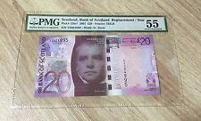 "2007 Scotland, Bank Of Scotland £20 P126a* ""Replacement/Star"" PMG 55. POP 1 !"