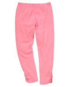 GYMBOREE STRIPES & ANCHOR NEON PINK RUCHED HEM LEGGINGS 4 5 6 7 8 10 NWT
