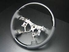 Toyota Land cruiser FJ100 FJ120 black PIANO wood leather steering wheel-STANDARD