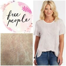 Free People Print Me Perfect Tee Shirt Super Soft Size Medium NWT