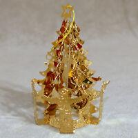 "Christmas Ornament Metal Filigree Gold Tone REED BARTON Tree Children 3"""