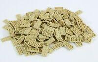 NEW LEGO TAN 2X4 PLATE X186 JOBLOT PART 3020 - STAR WARS NINJAGO CITY