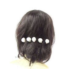 5x Blanche Ivoire Vrai Coquillage Épingles À Cheveux