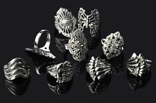 20 pcs Wholesale Jewelry Lots Mixed Stylist Tibet Silver Vintage Rings Free ship