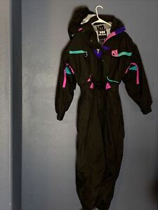 Vintage 80s Helly Hansen Mens Size S Equipe 1 Piece Warm SKI Suit Snowsuit Hood