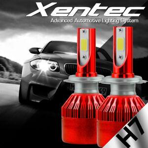 2 x H7 High Power LED Headlight Bulbs iSincer 6500K Car Single Beam CH