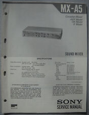 SONY MX-A5 Service Manual