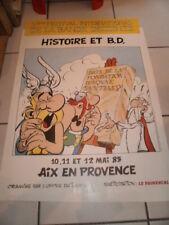 Astérix. RARE Affiche pour le 5° Festival BD Aix-en-Provence 1985