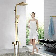 Bañera de lujo Latón dorado grifo de baño sola manija montado en la pared ducha