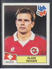 Panini - USA 94 World Cup - # 37 Alain Geiger - Helvetia (Black Back)