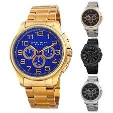 Men's Akribos XXIV AK748 Swiss Multifunction Stainless Steel  Bracelet Watch