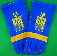 Made with KEVLAR® Blue Glove Welding Gloves Denim lined Stitched Glove LARGE