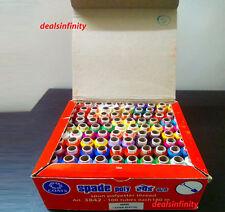 Assorted 25 Pcs Set Polyester Thread Spun Spool Hand Machine Sewing Supplies