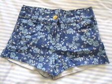 ex Cond Damenmode Denim Co Womens Uk Size 10 Blue Shorts/hot Pants