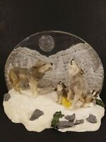 Rare Bradford Exchange Moon Calling Wolf Pack figurine. Guardians of the Mist.