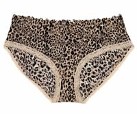 Victorias Secret Animal Print Lace Hiphugger Hipster Panty Size Medium