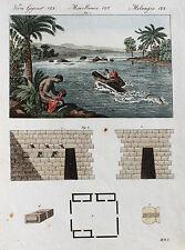 BERTUCH 1800 - Schwimmender Kurier, Haus der Inkas,Südamerika Peru ORIGINAL