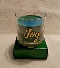 Yankee Candle Christmas Holiday JOY Balsam and Cedar 7 oz. Glass Candle