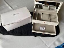 "Pandora Jewelry Box / Travel Case Box  7"" X 3.5"" X 3"" New With Original Pand Box"