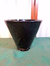 Beautiful Vintage Black Amethyst Bowl w/Diamond Pattern Base