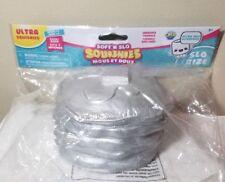 ULTRA SQUISHIES Series #1 Soft 'n Slo Metallic Silver Pancakes
