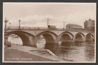 Postcard Worcester early view of The Bridge with Mellors Sauce Factory RP Tuck