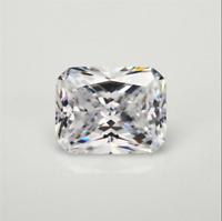 White Sapphire 6x8mm 2.62ct Emerald Faceted Cut Shape AAAAA VVS Loose Gemstone
