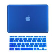 "2 in 1 Rubberized ROYAL BLUE Case for Macbook PRO 15"" A1286 with Keyboard Cover"