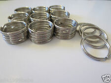 "Wholesale Lot 1000,500,250,100...10 Split Rings Keyrings 1 1/8""(27mm) Diameter"