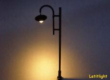 10 x  dunkelgrüne Straßenlampen mit LED -Technik Nr 4