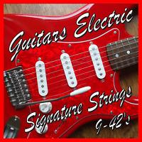 ELECTRIC GUITAR STRINGS 9-42's SUPER LIGHT Gauge Nickel wound .009 - .042
