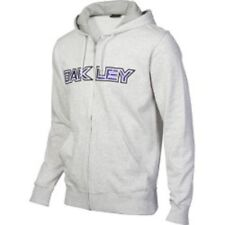 Men's Oakley Unleash The Beast Full Zip Hoodie Fleece Light Heather Grey Size S