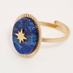 Natural Lapis Lazuli Adjustable Ring